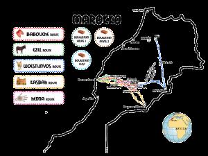 kaart-Marokko-algemeen