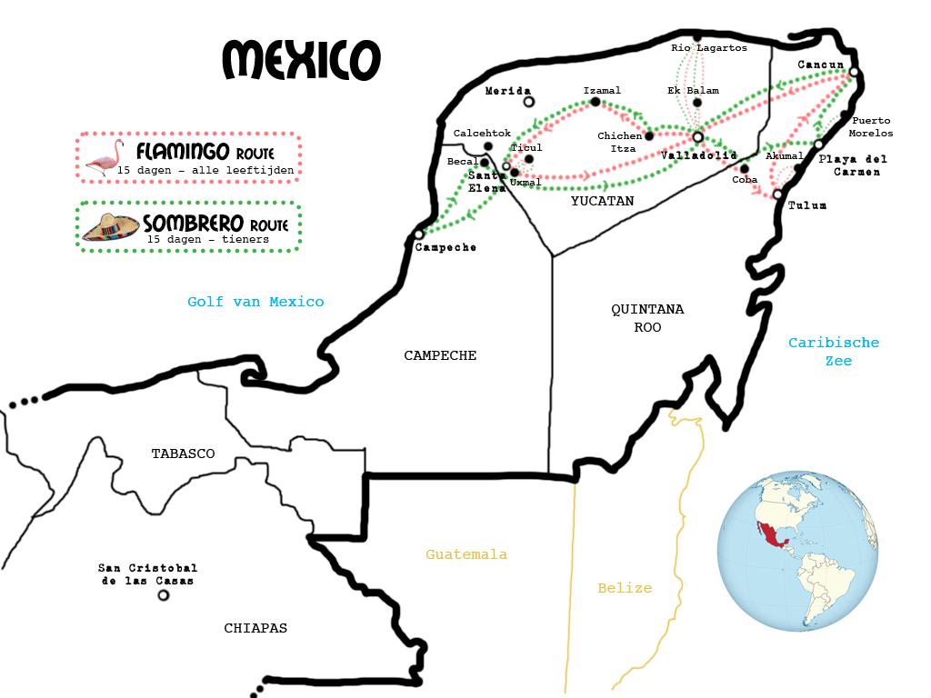 kaart-Mexico-algemeen-wit