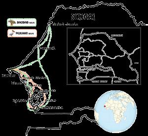 kaart-Senegal