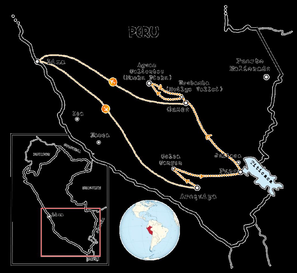 kaart-Peru-Alpacaroute